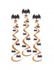 3 vleermuis spiraaldecoraties
