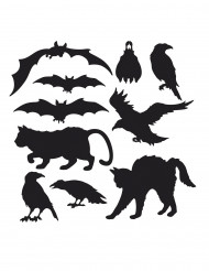 10 Halloween silhouetten decoraties