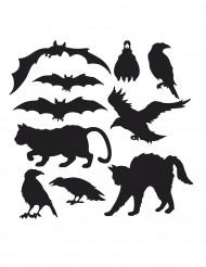 10 Halloween silhouetten decoraties