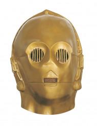 Soepel C3PO™ Star Wars™ masker voor volwassenen