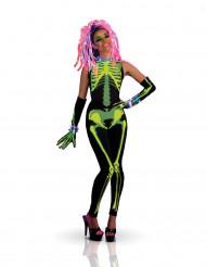 Techno girl skeletkostuum voor volwassenen