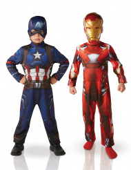 2 kinderkostuums van Iron Man™ en Captain America™ - Civil War™