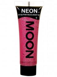 UV roze glittergel voor lichaam en gezicht