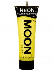 Gele UV glittergel voor lichaam en gezicht