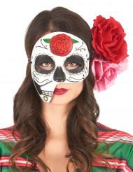 Asymmetrisch Día de los Muertos masker