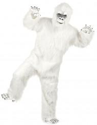 Luxe witte Yeti kostuum voor volwassenen