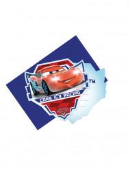 6 Cars Ice Racers™ uitnodigingen met enveloppen