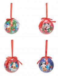 4 kerstballen Mickey™ 7.5 cm