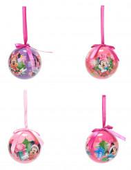 4 Minnie™ kerstballen 7.5 cm
