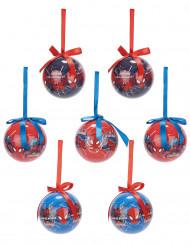 7 Spiderman™ kerstballen 7.5 cm
