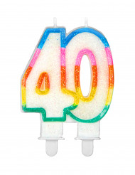 Nummer 40 verjaardagskaars