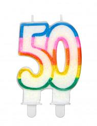 Nummer 50 verjaardagskaars