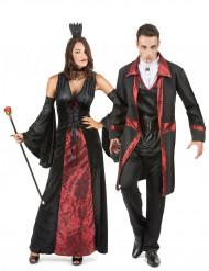 Rood en zwart vampier koppelkostuum