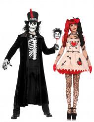 Halloween voodoo koppelkostuum