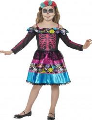 Dia de los Muertos skelet kostuum voor meisjes