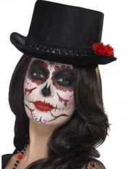 Dia de los Muertos hoge hoed voor volwassenen