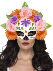 Dia de los Muertos halfmasker voor volwassenen