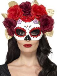 Día de los Muertos rozenmasker voor volwassenen