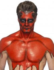 Rode vloeibare latex schmink met sponsje