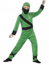 Groen ninja kostuum voor jongens