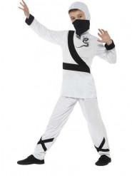 Wit ninja kostuum voor jongens