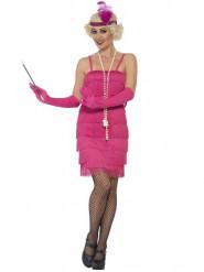 Roze Charlestonkostuum voor vrouwen