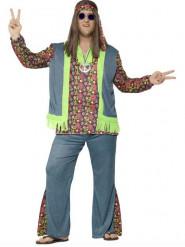 Kleurrijk hippie kostuum voor mannen