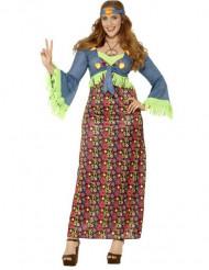 Kleurrijk hippie kostuum voor vrouwen