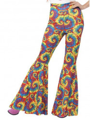 Veelkleurige hippie broek voor vrouwen