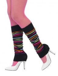 Gestreepte veelkleurige beenwarmers voor vrouwen