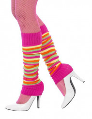 Gekleurde en gestreepte beenwarmers voor dames