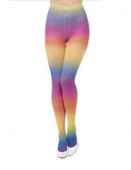 Ondoorzichtig regenboog panty voor vrouwen
