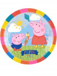 8 kartonnen bordjes van Peppa Pig™