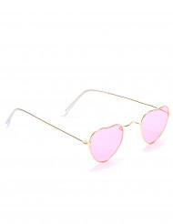 Roze hartenbril voor volwassenen