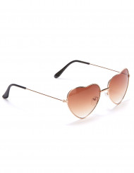 Bruine hartenbril voor volwassenen