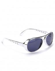Zilverkleurige ronde bril voor volwassenen