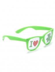 Groene Saint Patrick bril voor volwassenen