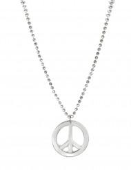 Zilverkleurig hippie ketting