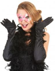 Venetiaans masker met roze pailletten