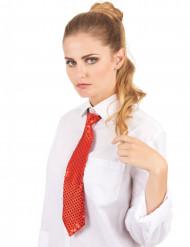 Rode stropdas met lovertjes voor volwassenen