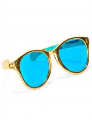 Enorme goudkleurige bril voor volwassenen