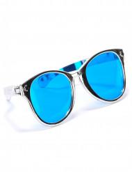 Enorme zilverkleurige bril voor volwassenen