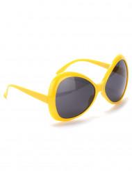 Gele discobril voor volwassenen