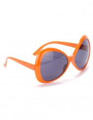 Oranje discobril voor volwassenen