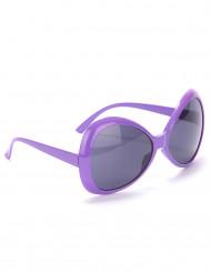 Paarse disco bril voor volwassenen