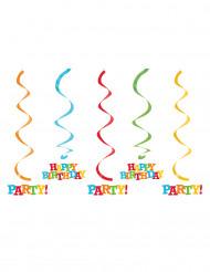 5 Happy Birthday ophangdecoraties