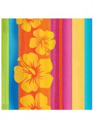 16 papieren Hawaii servetten