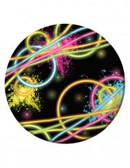 8 kleine Glow Party borden