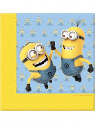 20 papieren Minions™ servetten