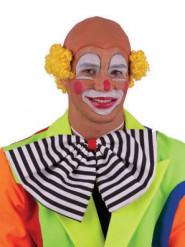 Kale gele clownspruik voor volwassenen